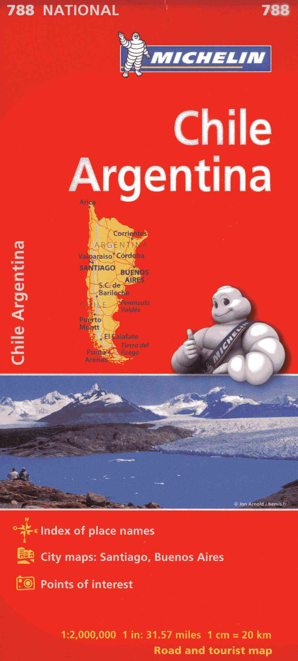 Michelin Map Chile/Argentina By Michelin Travel Publications (COR)